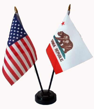 USA / CALIFORNIA - Table Flag Set